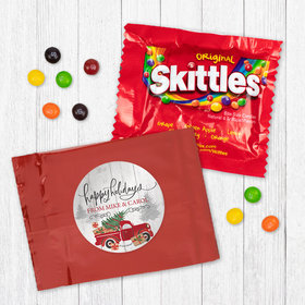 Personalized Christmas Rustic Red Truck - Skittles