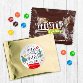 Personalized Nordic Christmas - Milk Chocolate M&Ms