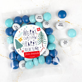 Personalized Christmas Candy Bag with JC Chocolate Minis - Nordic Christmas