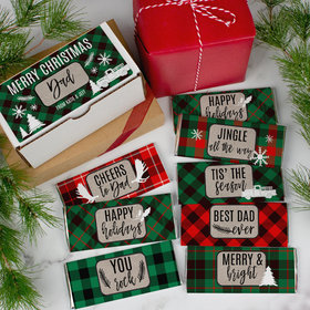 Personalized Dad's Plaid Hershey's Chocolate Bars Gift Box - 8 Pack