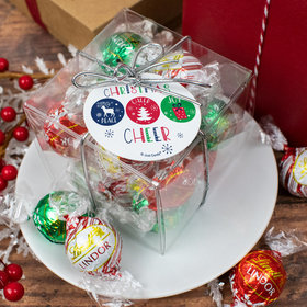 Christmas Lindor Truffles by Lindt Cube Gift - Christmas Cheer
