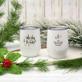 12oz Wine Tumbler - Christmas Merry and Bright