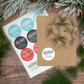 Personalized Merry & Bright Labels (72 Pack)