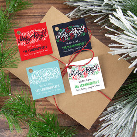 Personalized Merry & Bright Gift Tags (24 Pack)