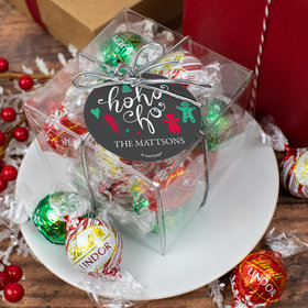 Personalized Christmas Lindor Truffles by Lindt Cube Gift - Ho Ho Ho