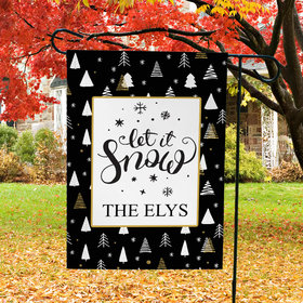 Personalized Family Let it Snow - Garden Flag