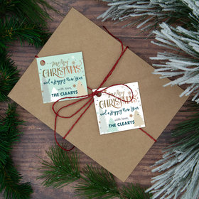 Personalized Merry Christmas Trees Gift Tags (24 Pack)