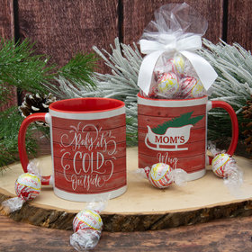 Personalized Baby its Cold Outside 11oz Mug with Lindt Truffles