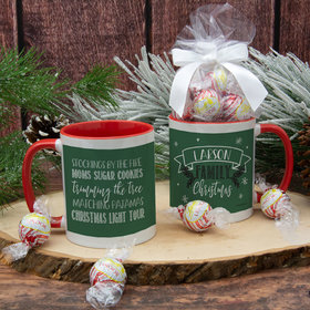 Personalized Family Christmas Traditions 11oz Mug with Lindt Truffles
