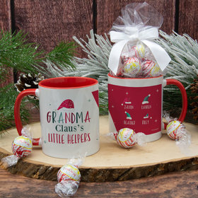 Personalized Grandma Claus's 4 Little Helpers 11oz Mug with Lindt Truffles