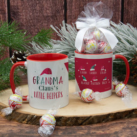Personalized Grandma Claus's 6 Little Helpers 11oz Mug with Lindt Truffles