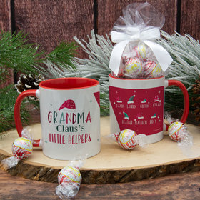 Personalized Grandma Claus's 7 Little Helpers 11oz Mug with Lindt Truffles