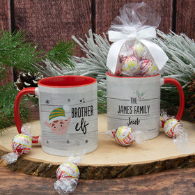 Personalized Santa Elf Family Brother 11oz Mug with Lindt Truffles