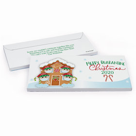 Deluxe Personalized Christmas Quarantine Family of 4 Chocolate Bar in Gift Box