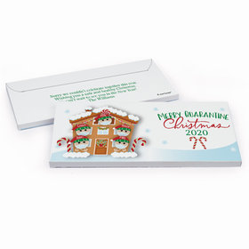 Deluxe Personalized Christmas Quarantine Family of 5 Chocolate Bar in Gift Box