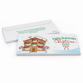 Deluxe Personalized Christmas Quarantine Family of 6 Chocolate Bar in Gift Box