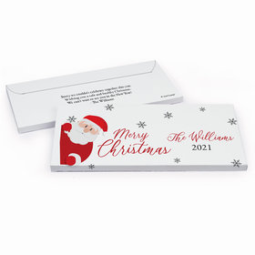 Deluxe Personalized Christmas Quarantine Santa Chocolate Bar in Gift Box