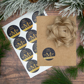 Personalized Foil Monogram Labels (72 Pack)