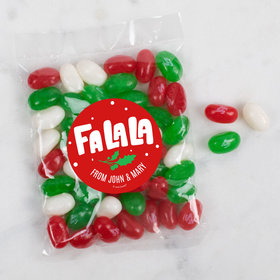 Personalized Christmas Falala Candy Bags with Jelly Belly Jelly Beans