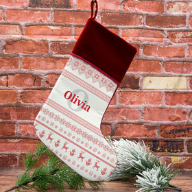 Custom Christmas Stocking Ugly Sweater Name