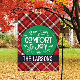 Personalized Christmas Comfort and Joy - Garden Flag