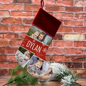 Custom Christmas Stocking Photo Collage