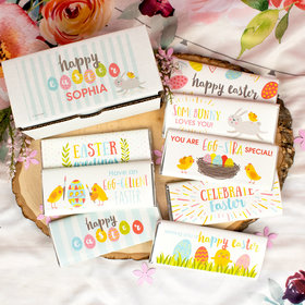 Personalized Easter Candy Hershey's Chocolate Bars Gift Box (8 Pack)