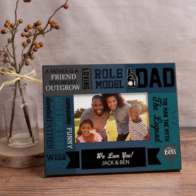 Personalized Picture Frame - Dad Word Cloud