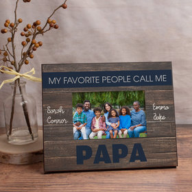 Personalized Picture Frame - My Favorite People Call Me Papa (4)