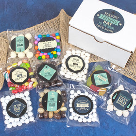 Personalized Father's Day Candy Care Package Gift Box - Happy Father's Day
