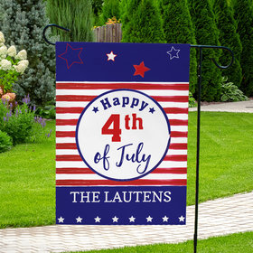 Personalized Independence Day Stars and Stripes - Garden Flag