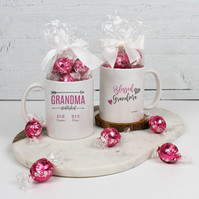 Personalized Blessed Grandma with 2 Grandkids - 11oz Mug with Lindt Truffles