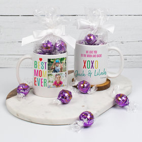 Personalized Best Mom Ever - 11oz Mug with Lindt Truffles