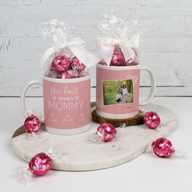 Personalized Mother with 3 Our Hearts Belong to Mommy - 11oz Mug with Lindt Truffles