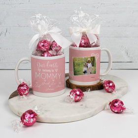 Personalized Mother with 5 Our Hearts Belong to Mommy - 11oz Mug with Lindt Truffles