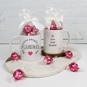 Personalized My Favorite People Call me Grandma - 11oz Mug with Lindt Truffles