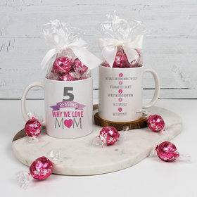 Personalized 5 Reasons Why we Love Mom - 11oz Mug with Lindt Truffles