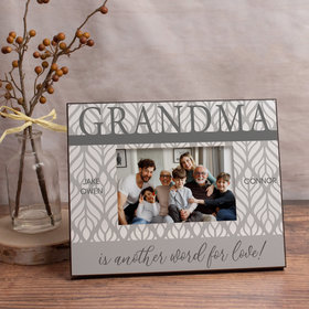 Personalized Picture Frame - Grandma is Another Word for Love! (3)