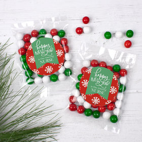 Personalized New Years Candy Bag with Sixlets - New Year's Snowflakes