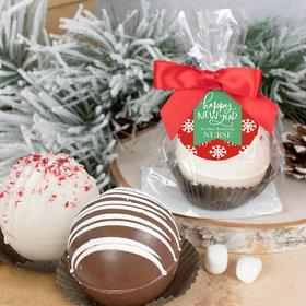 Personalized New Years Hot Cocoa Bomb - Snowflakes