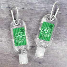 Hand Sanitizer with Carabiner Happy St. Paddys Day 1 fl. oz bottle