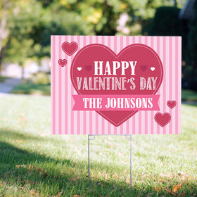 Personalized Valentine's Day Yard Sign - Happy Valentine's Day