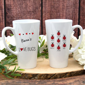 Personalized White Latte Mug (17oz) - Seven Love Bugs