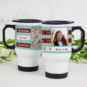 Personalized Stainless Steel Travel Mug (14oz) - Our Valentine
