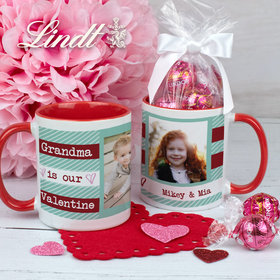 Personalized Our Valentine 11oz Mug with Lindt Truffles