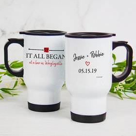 Personalized Stainless Steel Travel Mug (14oz) - It All Began