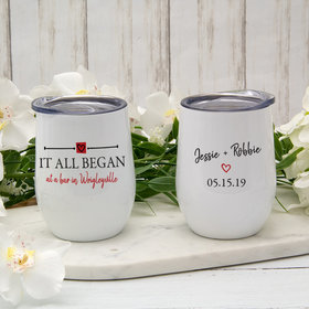 Personalized 12oz Wine Tumbler - It All Began