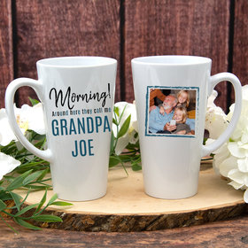 Personalized They Call Me Grandpa White Latte Mug (17oz)