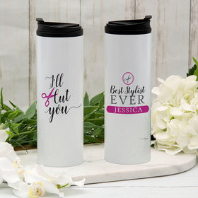 Personalized I'll Cut You Stainless Steel Thermal Tumbler (16oz)