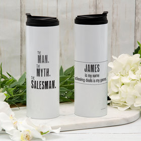 Personalized The Man, The Myth, The Salesman Stainless Steel Thermal Tumbler (16oz)